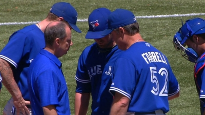 Drabek back with Blue Jays in 'pen, for now