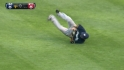 Aoki's spectacular catch