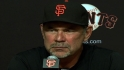 Bochy on the Giants' sweep