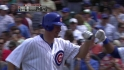 Clevenger's first career homer