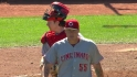 Latos ends game with strikeout