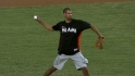 Battier's first pitch