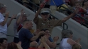 Marine receives standing ovation