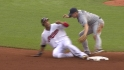 Molina throws out Brantley