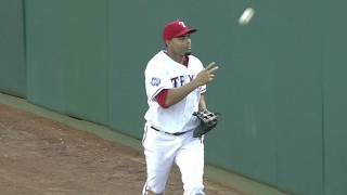 Cruz makes a sliding catch