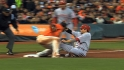 Votto tears meniscus on slide