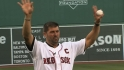 Varitek honored at Fenway