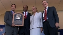Selig reads Larkin's HOF plaque