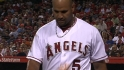Pujols shaken up