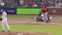 Morales' second homer of inning