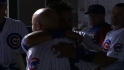 Johnson, Soto hug teammates