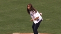 Misty May-Treanor's first pitch