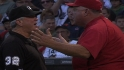 Scioscia argues, protests game