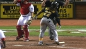 McCutchen hit by heater