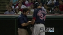Middlebrooks exits after HBP