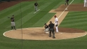 Snider scores on wild pitch