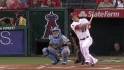 Trout's leadoff triple