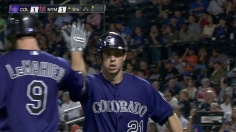 Rockies outlast Dickey, then beat Mets late