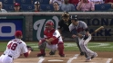 Prado's leadoff double