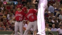 Pujols injures leg, leaves game