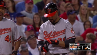 Markakis hits a two-run triple