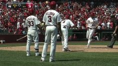 Before big trip, Cardinals rally to sweep Astros