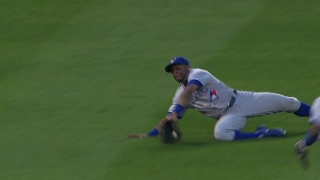 Davis' sliding catch