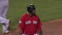 Big Papi limps off the field