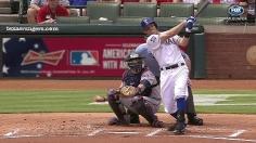 Rangers plate nine early runs, cruise past Twins