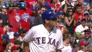 Kinsler clears the bases with a triple