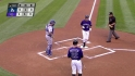 Colvin&#039;s leadoff homer