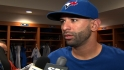 Bautista on his wrist injury
