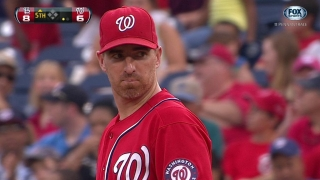 LaRoche jumps up and snags it