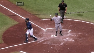Ibanez drives in a run with a triple
