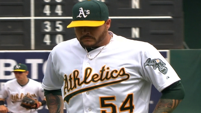 A's part ways with Blackley, Barton