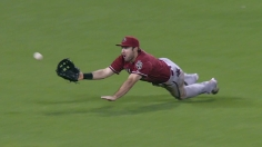 Cahill excels as D-backs subdue Giants