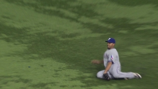 Cruz makes a nice sliding catch