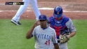 Marmol closes door