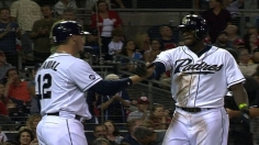 Maybin, Forsythe lead 17-hit attack for surging Padres