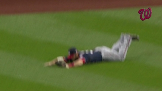 Harper lays out for an impressive catch