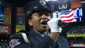 NYC firefighter sings in stretch