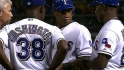 Beltre leaves the game