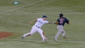 Aviles avoids the tag
