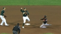 A's turn four double plays