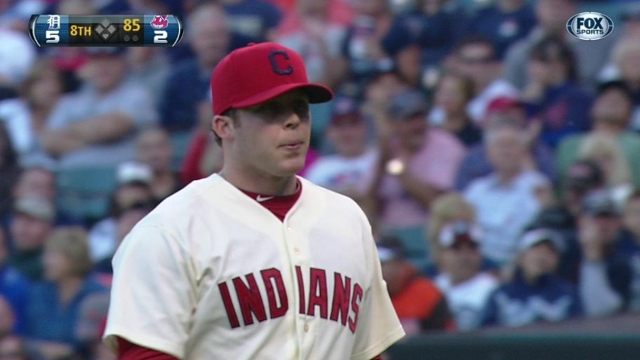 Allen looking to make mark in Indians' bullpen