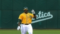 A&#039;s five-run third