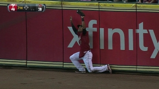 Paredes makes a leaping grab