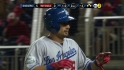 Victorino scores on wild pitch