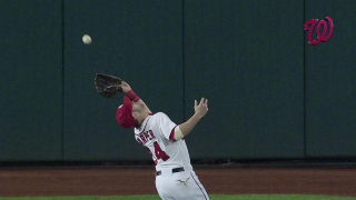 Harper's acrobatic catch