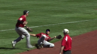 Maxwell makes a sliding catch